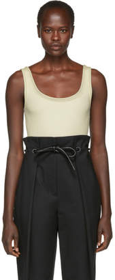 3.1 Phillip Lim White Wool Rib Tank Top