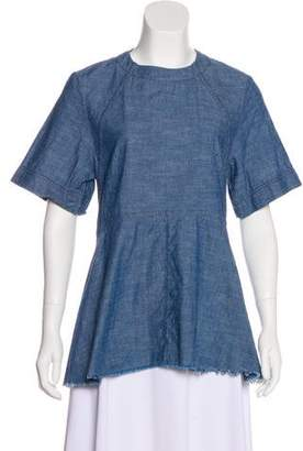 Proenza Schouler Casual Short Sleeve Blouse