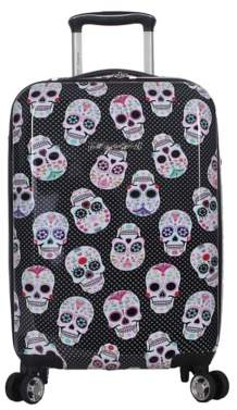 Betsey Johnson Luggage Skull Party 20-Inch Carry-On Hard Shell Luggage