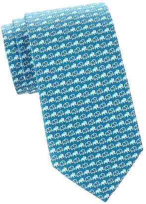 0b56b1c04e3c4b Salvatore Ferragamo Small Elephants Silk Tie