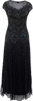 Pisarro Nights 1920s Beaded Gown