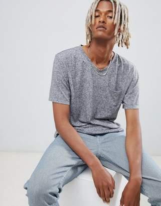 Weekday sonic pocket t-shirt gray melange