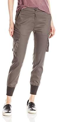 James Jeans Women's Slouchy Cargo Jogger Pant with Banded Ankles in
