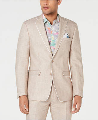 Tallia Men Slim-Fit Tan Birdseye Suit Jacket