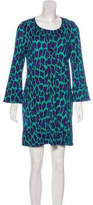Diane von Furstenberg Mini Print Silk Dress