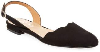 French Sole Women's Suede Slingback Flats