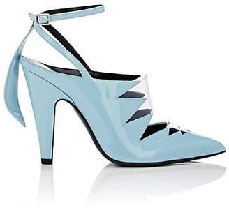 Calvin Klein Women's Celeste Patent Leather & Pvc Ankle-Strap Pumps - Lt. Blue Size 9.5