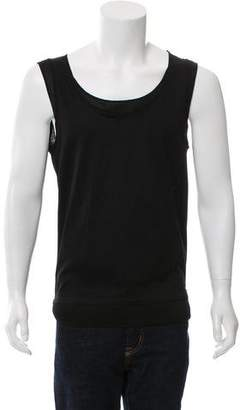 Les Hommes Semi-Sheer Trim Sleeveless T-Shirt w/ Tags
