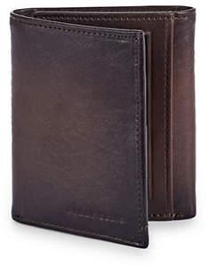 Perry Ellis Boxed Michigan Slim Leather Tri-Fold Wallet
