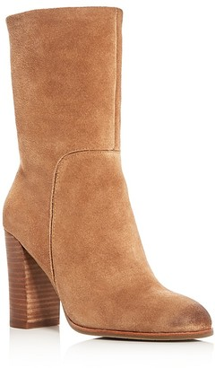 Kenneth Cole Jenni High Heel Mid Calf Booties $199 thestylecure.com