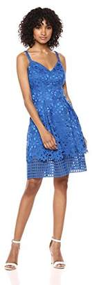 Vince Camuto Women's Lace Fit Flare Dress