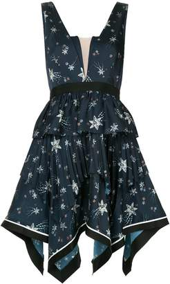 Self-Portrait star print party dress
