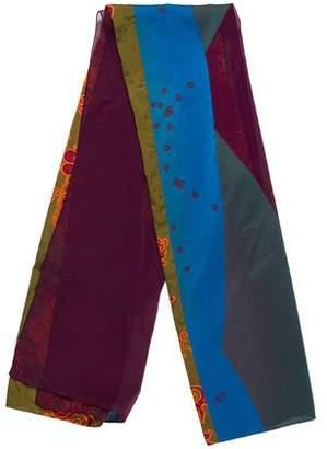 Etro Floral Printed Silk-Blend Scarf