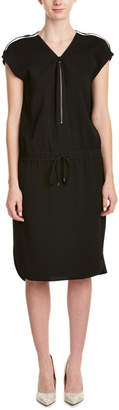 Vince Contrast Trim Sheath Dress