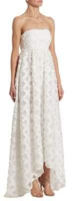 Zac Posen Lila Strapless Fil Coupe Gown