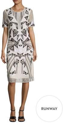 BCBGMAXAZRIA Women's Grazia Embroidered Lace Sheath Dress