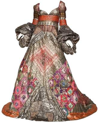 Jean Louis Scherrer Jean-louis Scherrer Metallic Silk Dresses