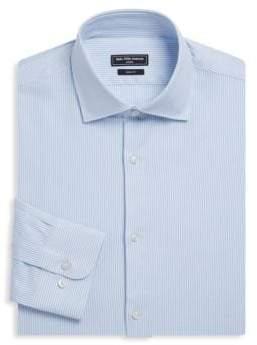 Saks Fifth Avenue MODERN Striped Cotton Dress Shirt