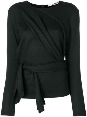 Chalayan draped front belted top