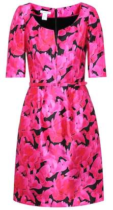 Oscar de la Renta Floral-printed silk and cotton dress