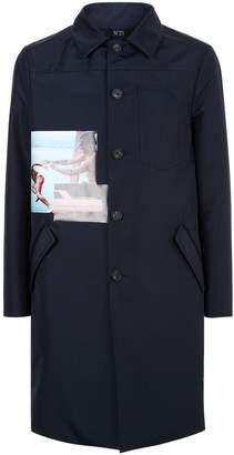 N°21 N 21 Graphic Print Overcoat