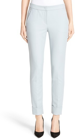 Women's Armani Collezion Tech Cotton Cuff Pants