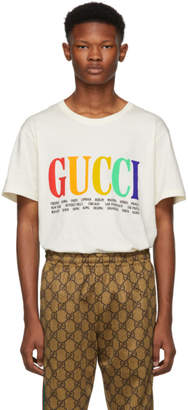Gucci White Cities T-Shirt
