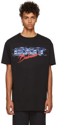 Balmain Black Oversized Exit T-Shirt