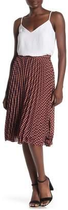 Mustard Seed Gingham Midi Skirt