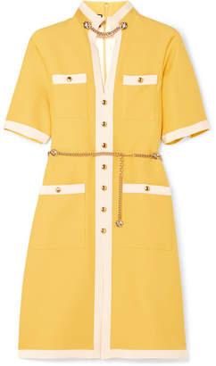 Gucci Grosgrain-trimmed Wool And Silk-blend Dress