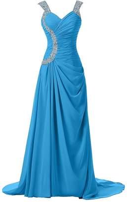 DianSheng Straps Chiffon Special Occasion Formal Bridesmaid Dresses Long us