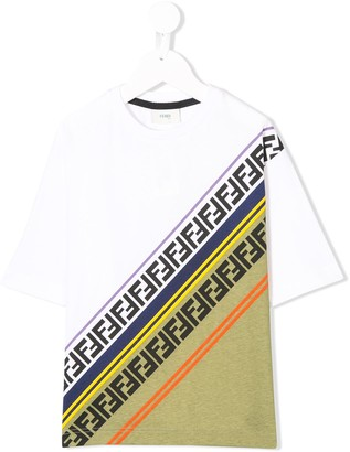 Fendi panelled FF logo T-shirt