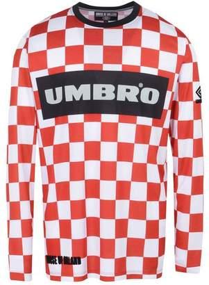 House of Holland UMBRO x CHECKERBOARD LONGSLEEVED FOOTBALL T-shirt