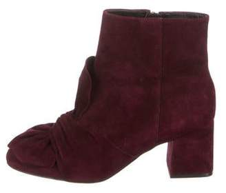 Rebecca Minkoff Suede Bow-Accented Ankle Boots