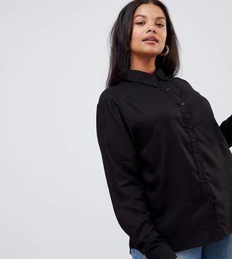 Brave Soul Plus Talia Shirt with Dip Back