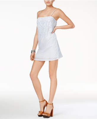 Guess Judy Embroidered Slip Dress $89 thestylecure.com