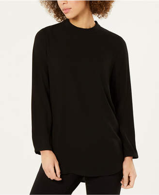 Eileen Fisher Silk Mock Neck Top