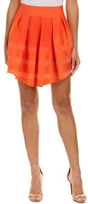 Maje Pleated A-Line Skirt