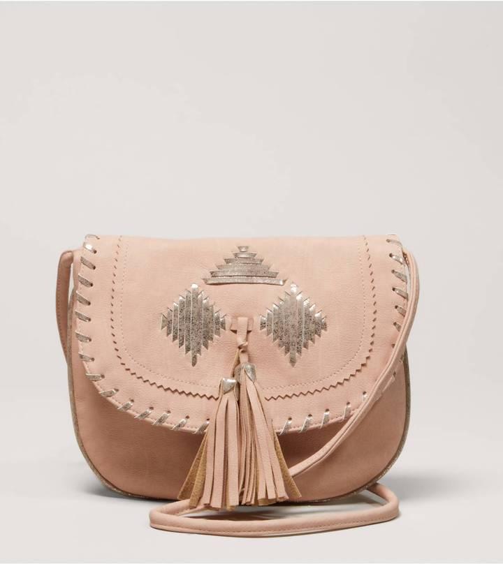 American Eagle AEO Woven Tassel Bag