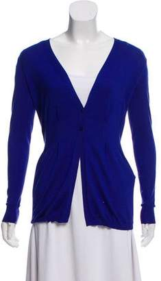 Etro Silk Long Sleeve Cardigan