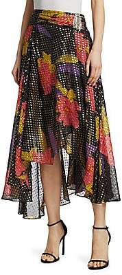 Dodo Bar Or Women's Vera Floral & Metallic Polka Dot-Print Midi Skirt