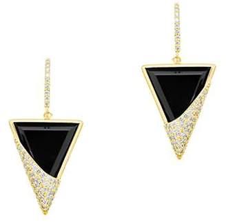 Lana Women's Flawless 14K Yellow Gold Triangular Drop Earrings