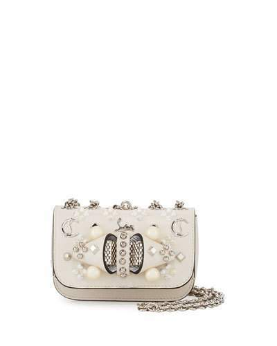 Christian Louboutin  Christian Louboutin Sweet Charity Mixed-Stud Leather Crossbody Bag
