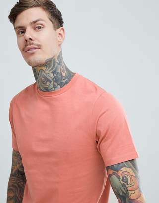 Pull&Bear Organic Cotton Basic T-Shirt In Pink