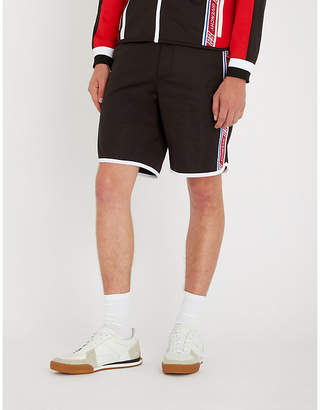 Givenchy Side-stripe sports-jersey shorts