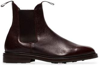 Tricker's Trickers x Browns burgundy leather Chelsea boots