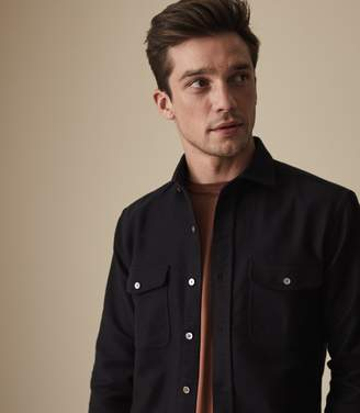 Reiss BOSCELLI TWIN POCKET OVERSHIRT Navy