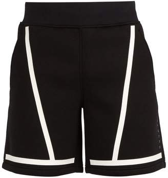 BLACKBARRETT by NEIL BARRETT Mid-rise line-print jersey shorts
