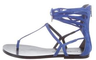 Sigerson Morrison Suede Multistrap Sandals w/ Tags