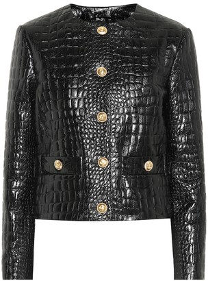 Gucci Embossed leather jacket